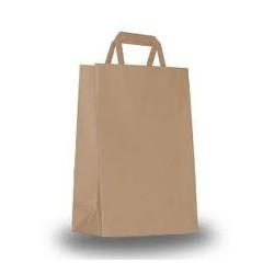 Buste shoppers con maniglia piatta colore avano