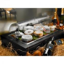 Vassoio per formaggi con tagliere in polietilene ad alta resistenza wengé Buffet Classic
