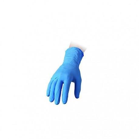Guanti Reflexx senza polvere in nitrile azzurro taglia L
