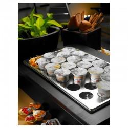 Porta yogurt refrigerato con 22 spazi wengé Buffet Classic